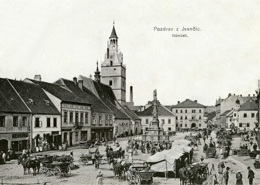 Ivančice - náměstí z počátku 20.st.