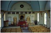 Interiér kostela v Sandaváguru